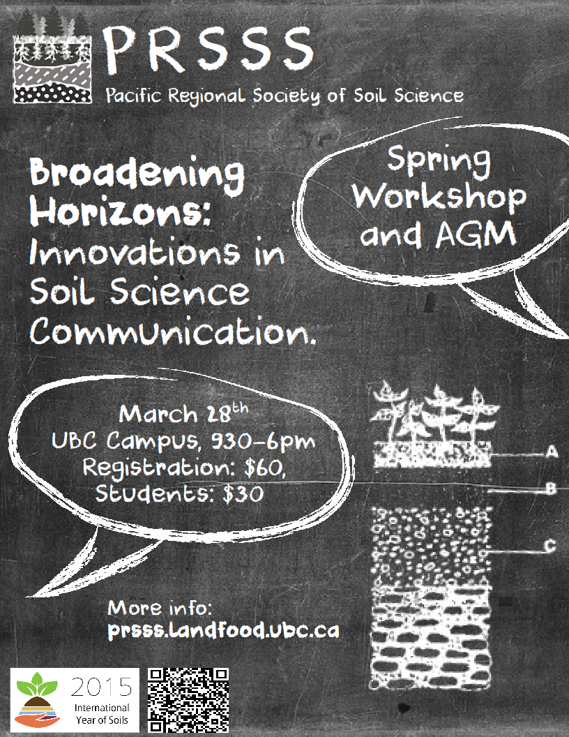 2015 spring workshop and agm broadening horizons for Soil tour dates 2015